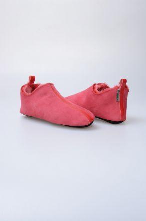 Pegia Hakiki Kürk Bayan Ev Ayakkabısı 980565 Red