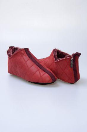 Pegia Hakiki Kürk Bayan Ev Ayakkabısı 980569 Bordo