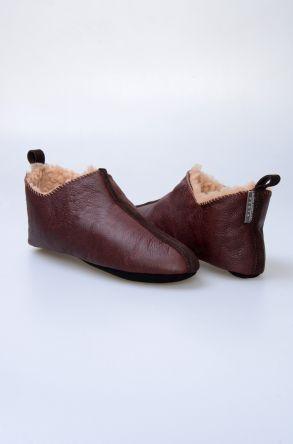 Pegia Hakiki Kürk Bayan Ev Ayakkabısı 980572 Kahve