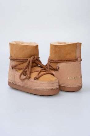 Cool Moon Women Snowboots From Genuine Fur Sand-colored