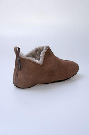 Pegia Original Fur Ladies Home Shoes 980573 Brown