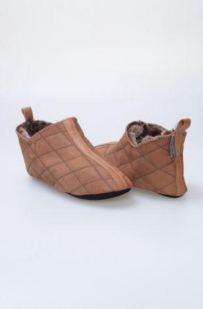 Pegia Hakiki Kürk Bayan Ev Ayakkabısı 980450 Taba