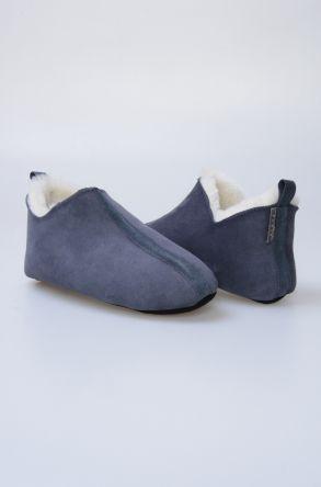 Pegia Hakiki Kürk Bayan Ev Ayakkabısı 980484 Açık Mavi