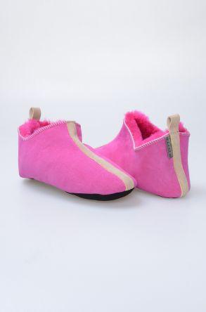 Pegia Hakiki Kürk Bayan Ev Ayakkabısı 980494 Fuşya