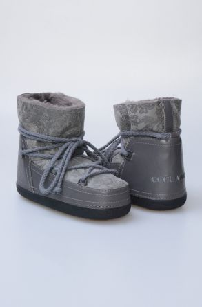 Cool Moon Women's Sheepskin Snow Boots 251079 Gray