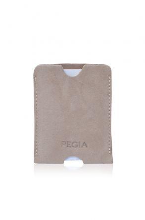 Pegia Original Suede Leather Cardholder Wallet 19CZ207 Beige