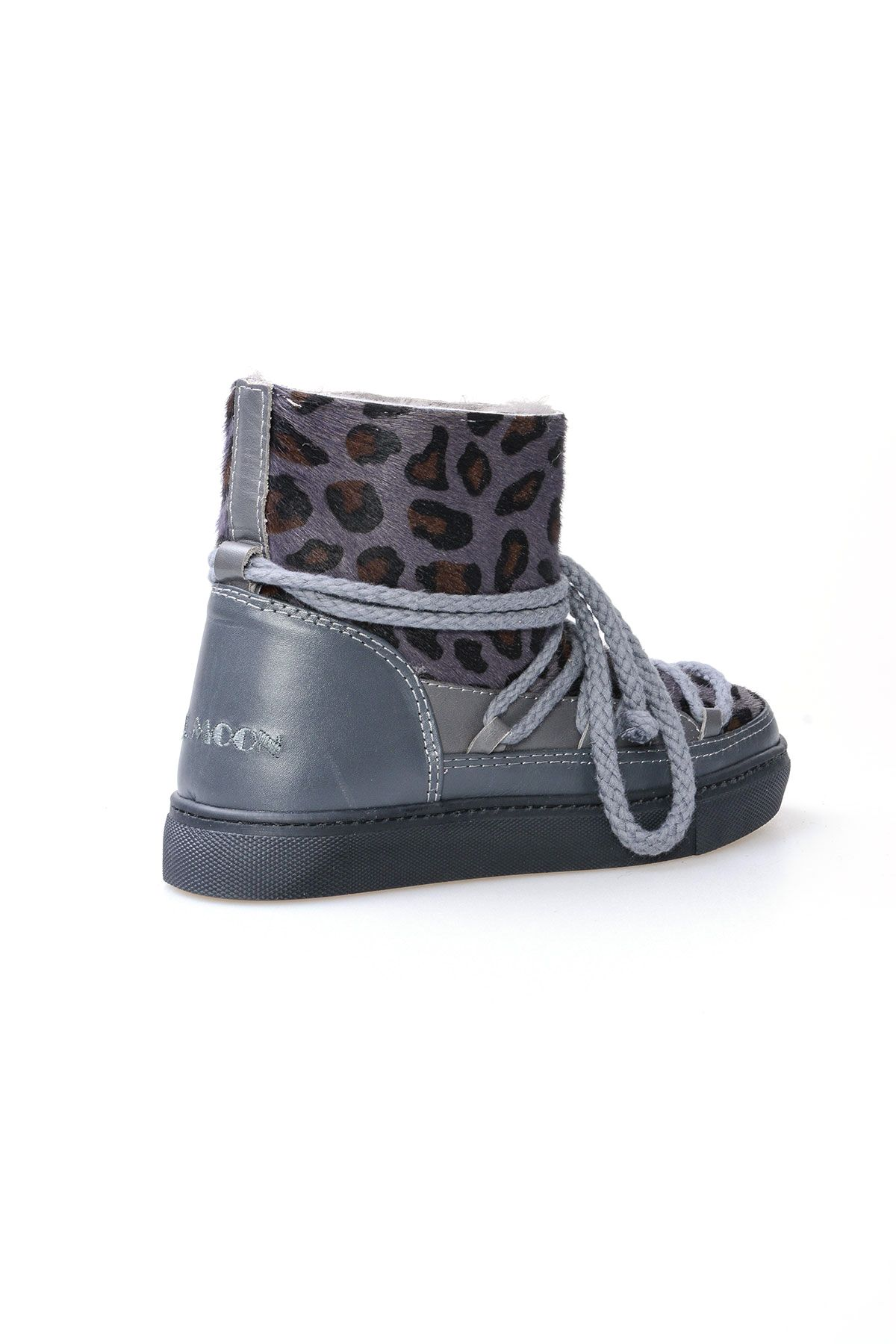 Cool Moon Genuine Cavallino Leather & Shearling Women's Sneakers 355002 Gray