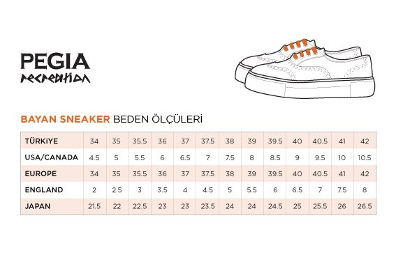 Pegia Recreation Hakiki Deri Bayan Sneaker 19REC101