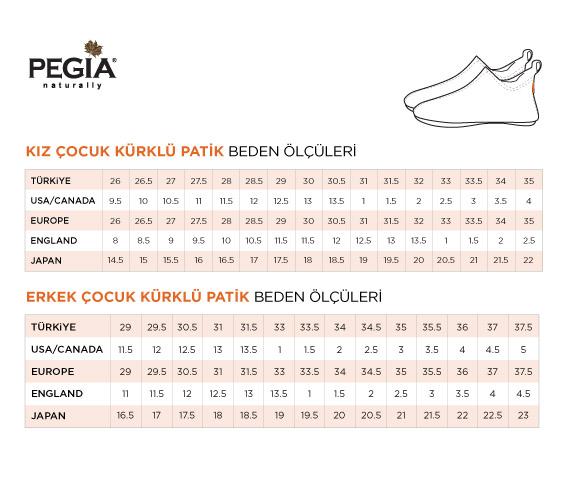 Pegia Hakiki Kürklü Çocuk Ev Ayakkabısı 121297